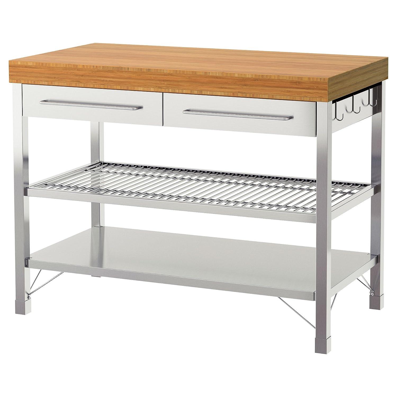 Amazon.com - ikeaa IKEA RIMFORSA Work Bench, Stainless Steel ...