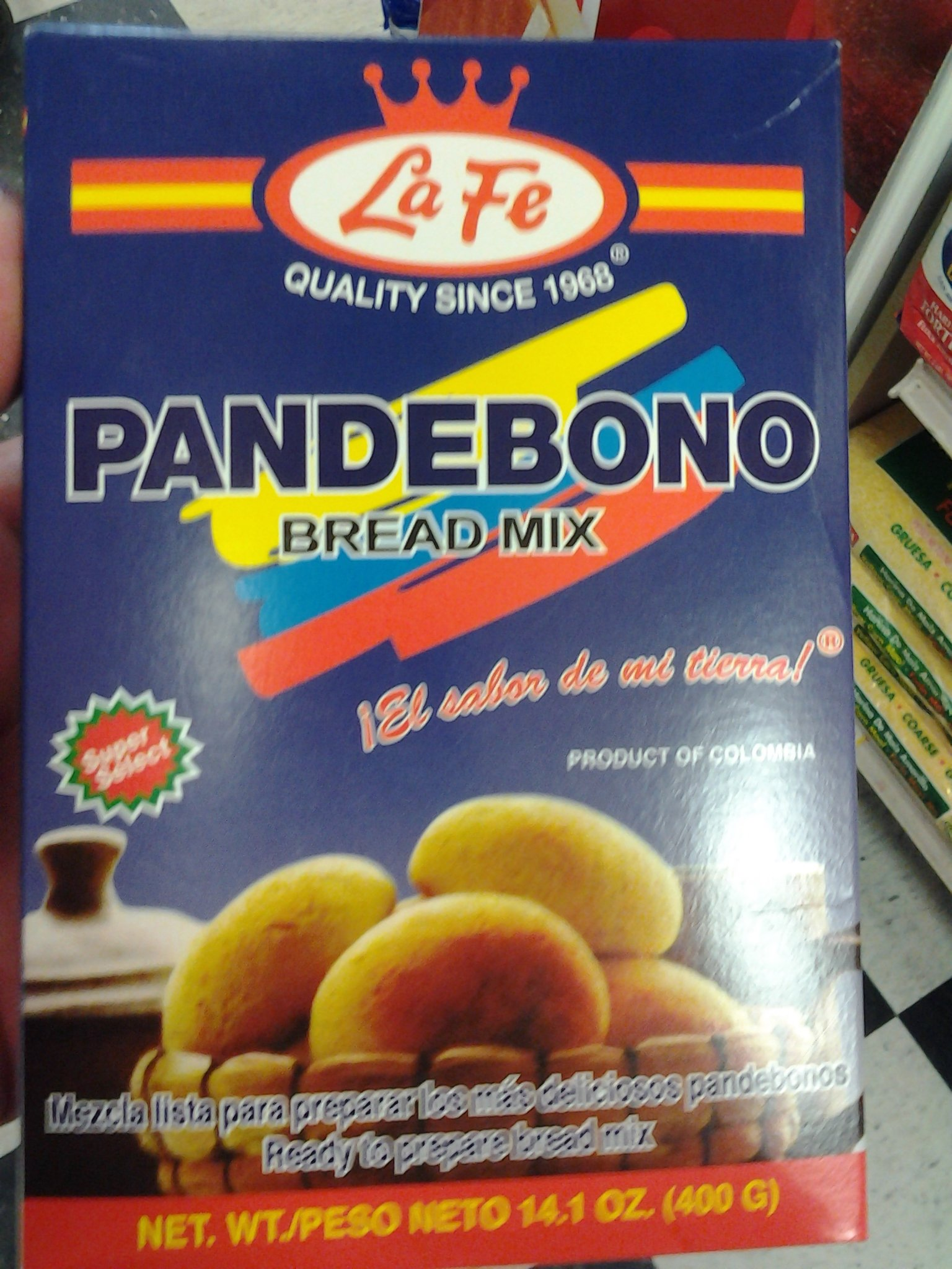 Pan De Bono Colombiano (Typical Colombian Pandebono, 1 Pack) 14.01 Oz