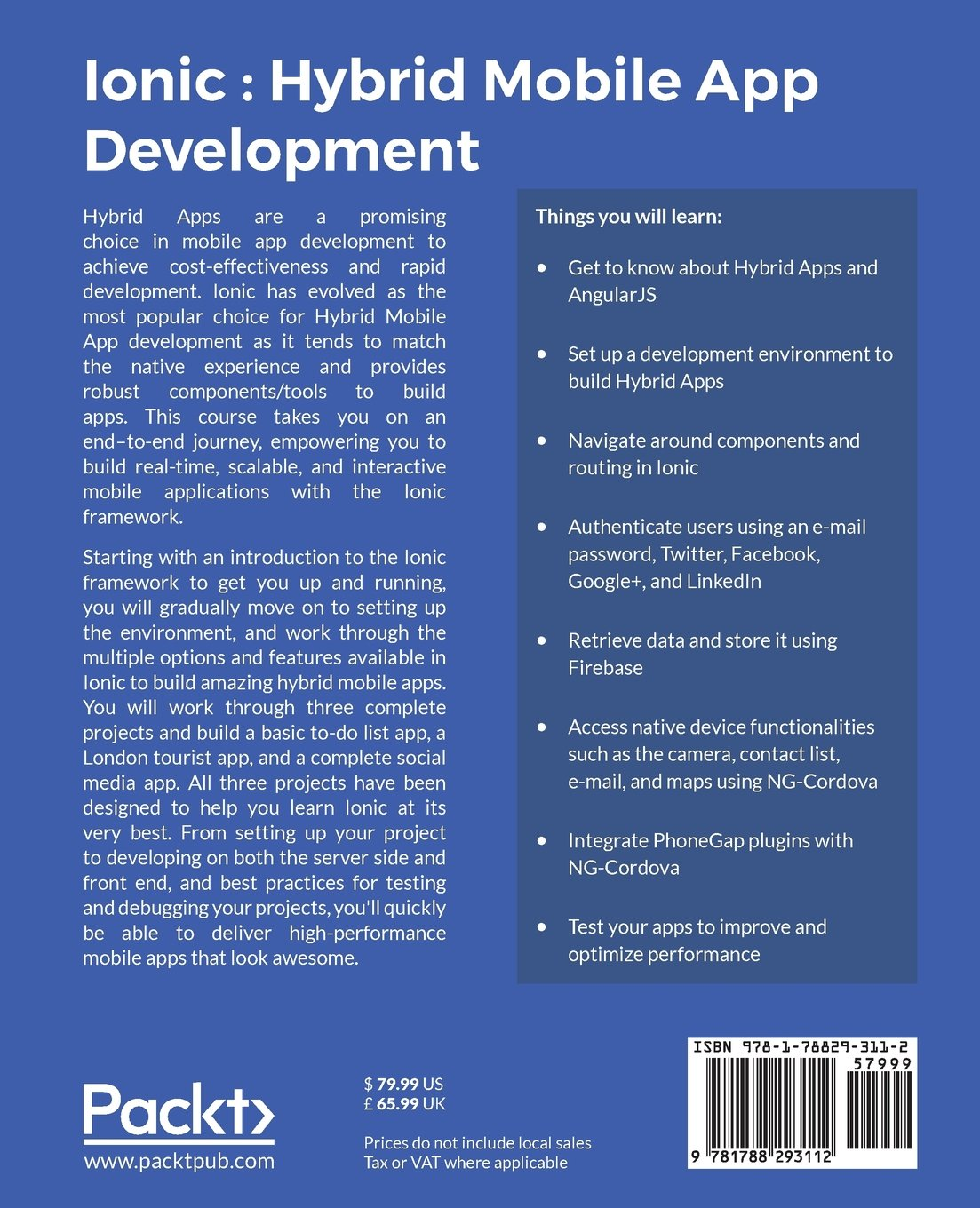 Buy Ionic : Hybrid Mobile App Development Book Online at Low Prices