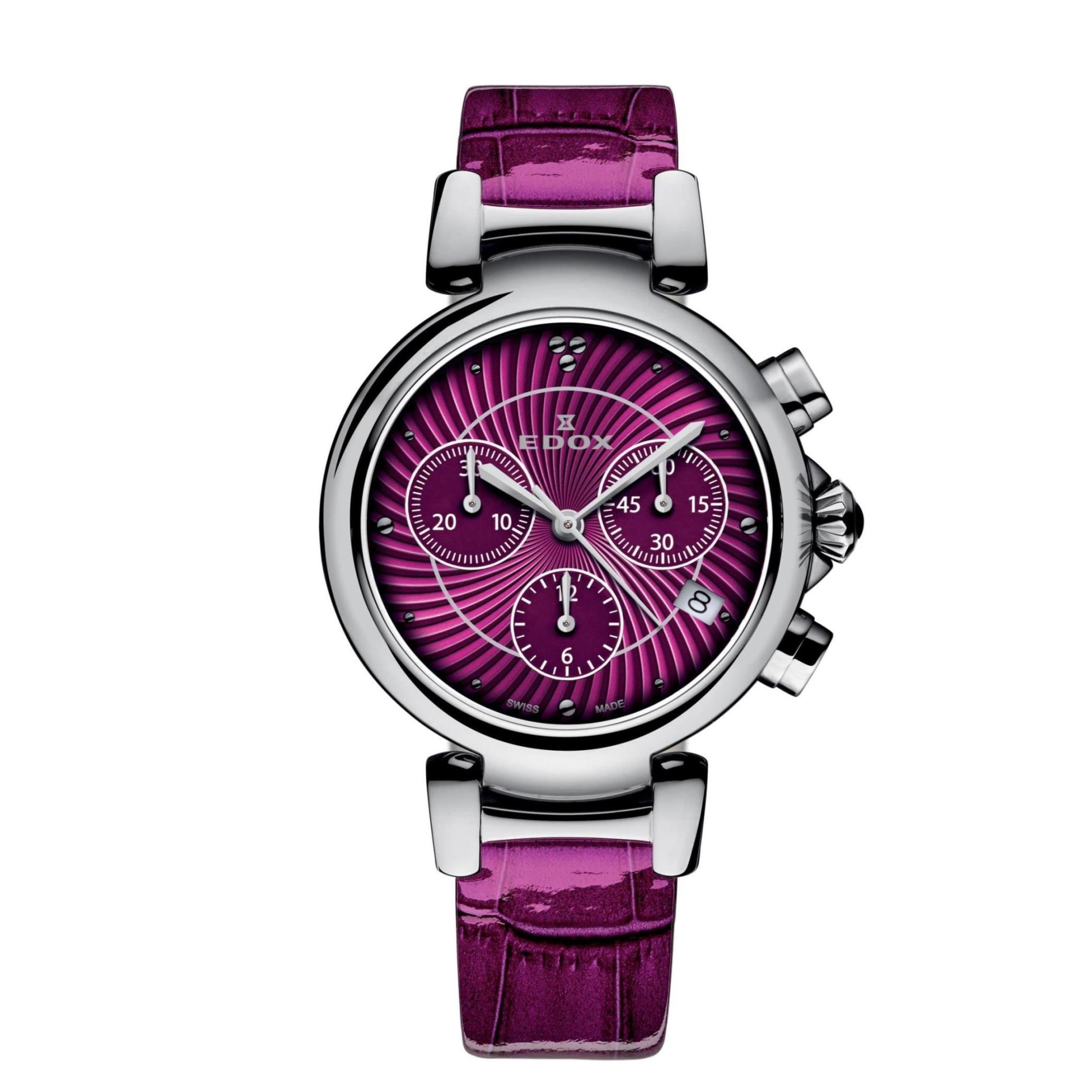 Edox Women's 10220 3C ROIN LaPassion Analog Display Swiss Quartz Pink Watch