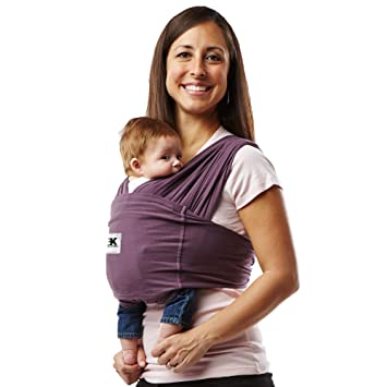 86c15118046 Amazon.com   Baby K Tan Baby Wrap - Eggplant - Large   Child Carrier ...
