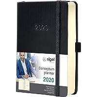 SIGEL C2010 Tageskalender 2020, ca. A5, schwarz, Hardcover Conceptum - weitere Modelle