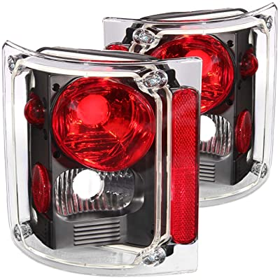 Anzo USA 211016 Chevrolet Pickup Black Tail Light Assembly - (Sold in Pairs): Automotive