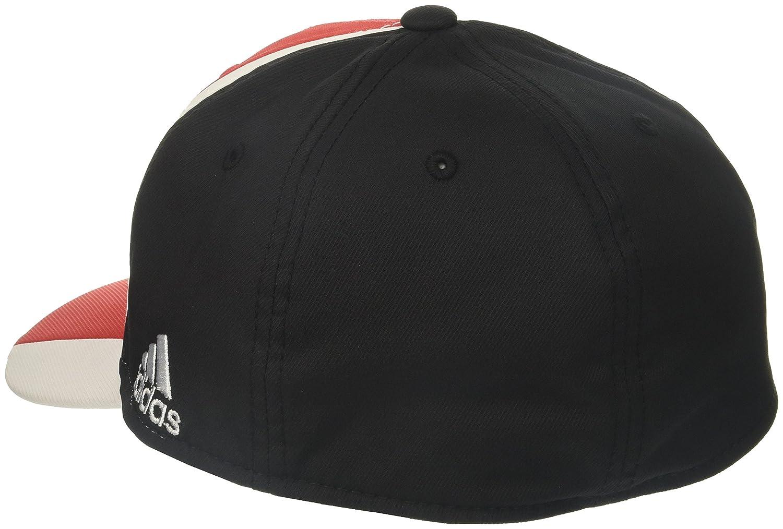 adidas Adult Men Cut N Sew Curved Visor Flex Small//Medium Red//Black