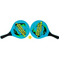 Wave Runner Beach Rackets Set Paddle Racket Tennis Wooden Beach Summer Sports, Blue, One Size