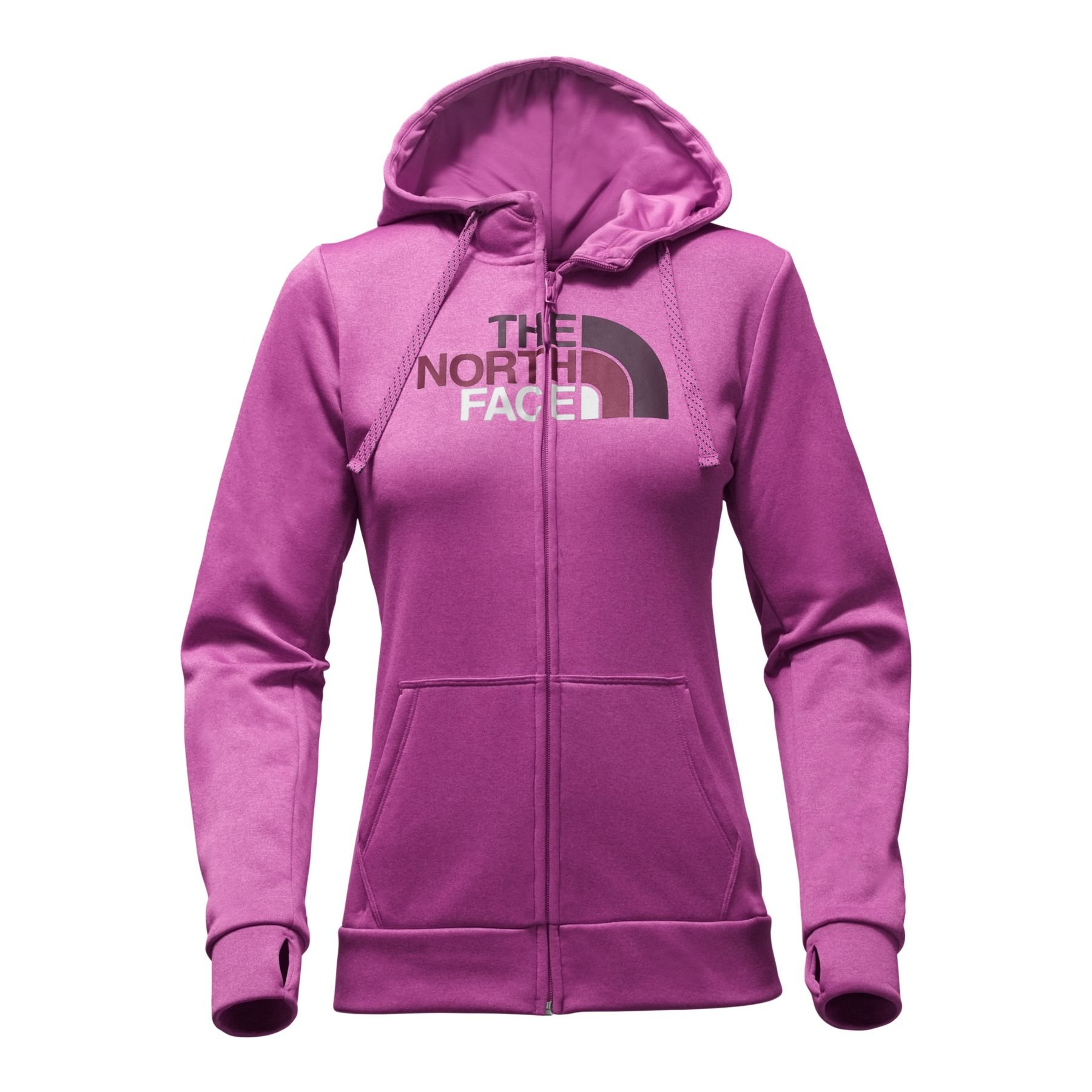 The North Face Women's Fave Half Dome Full Zip Hoodie 2.0 - Wild Aster Purple & Galaxy Print Multi - L