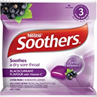 SOOTHERS Blackcurrant Sore Throat Lozenges 30 Pack, 120g