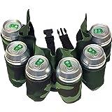 Dzine - Cintura porta birre mimetica con 6 posti cartucciera per lattine