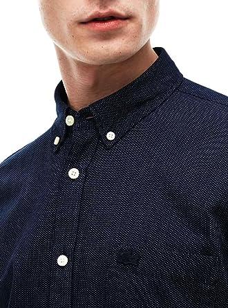 Lacoste Ch9597, Camisa Para Hombre, Azul (Marine/blanc), 40 ...