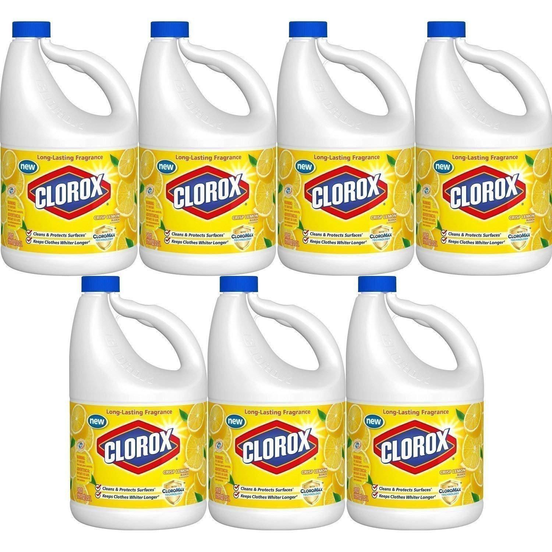 Clorox Bleach, Crisp Lemon Scent, 121 Ounces (Pack of 7)