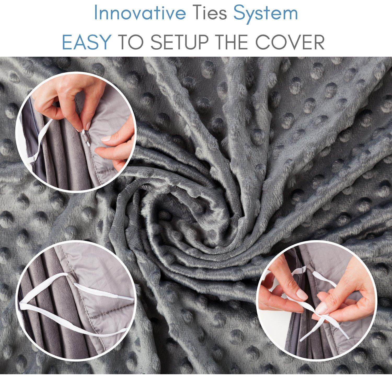 Snuggle Pro Luxury Minky Dot Duvet Cover for Weighted Blanket - 48''x72'' Twin Size/Full Bed Velvet Plush Weighted Blanket Cover by Snuggle Pro (Image #3)