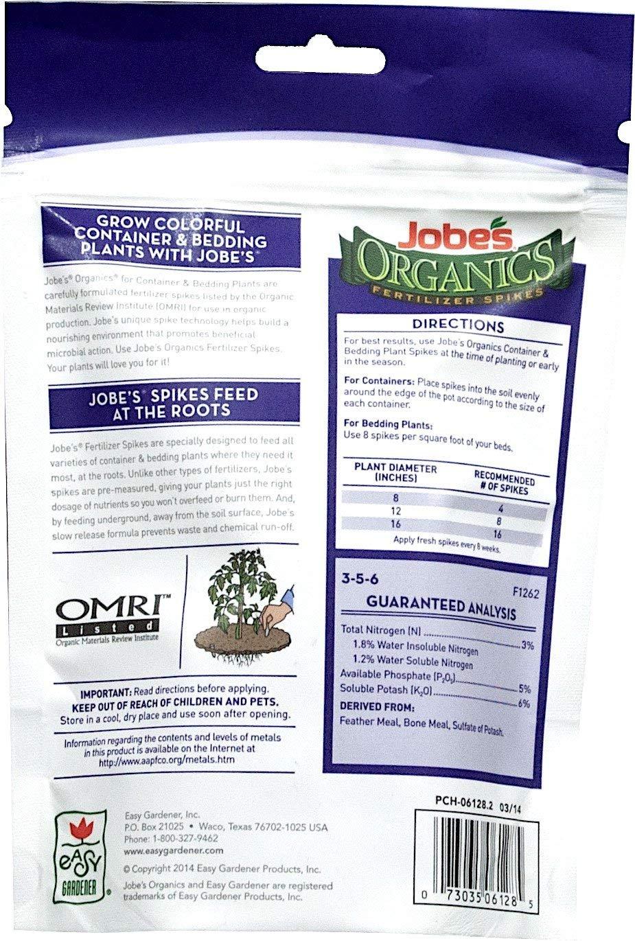 Ordinaire Amazon.com : Jobeu0027s Organic Container U0026 Bedding Fertilizer Spikes 3 5 7  (5 (Pack)) : Garden U0026 Outdoor