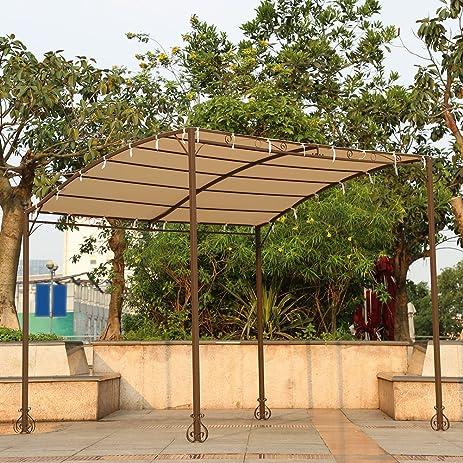 Amazon.com : IKAYAA Metal Patio Garden Outdoor Gazebo Canopy Sun Shelter :  Garden U0026 Outdoor