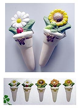 Juego 12 dispensador dosificador humidificador con forma de flor para agua o Fertilizante para plantas: Amazon.es: Jardín