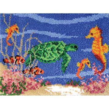 MCG Textiles 37663 Under The Sea Latch Hook Rug Kit