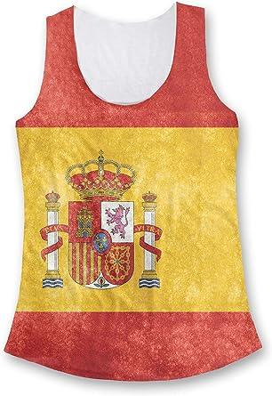 España Bandera Moda Mujer Camiseta De Tirantes - sintético, Multicolor, 100% poliéster, mujer, Small: Amazon.es: Ropa y accesorios