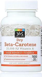 365 Everyday Value, Dry Beta-Carotene 25000 IU, 100 ct