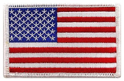 amazon com usa us american flag logo embroidered patch sew on iron rh amazon com american flag logo design american flag logo black and white