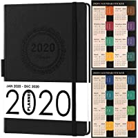 """2020 Planner, Weekly/Monthly Planner, Saffiano Leather with Thick Paper, Back Pocket with 88 Notes Pages, 5.75"""" x 8.25"""""""