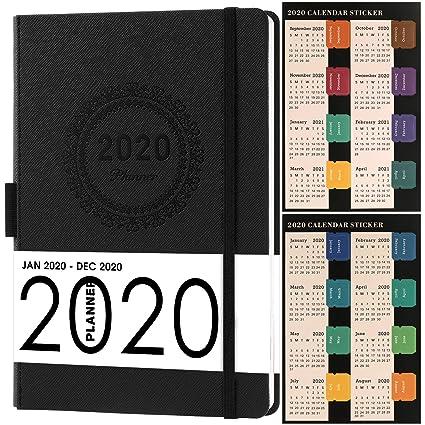 Agenda con pegatinas de calendario 2019-2020