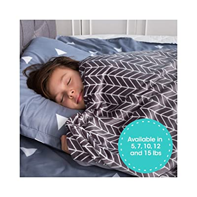 """Florensi Weighted Blanket for Kids with Removable Bamboo Duvet Cover (5 Lbs & 36"""" x 48""""), 5 Pounds Weighted Comforter, Twin Size, Cooling Blanket for Kid Baby Toddler Teenager, Machine Washable Cover: Home & Kitchen"""