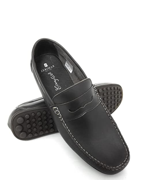 Zerimar Mocasin de Piel Para Hombre Zapatos Hombre Mocasines Calzado Hombre Vestir Color Marron Talla 41: Amazon.es: Zapatos y complementos