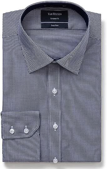 Van Heusen Men's Euro Fit Shirt Small Check, Classic