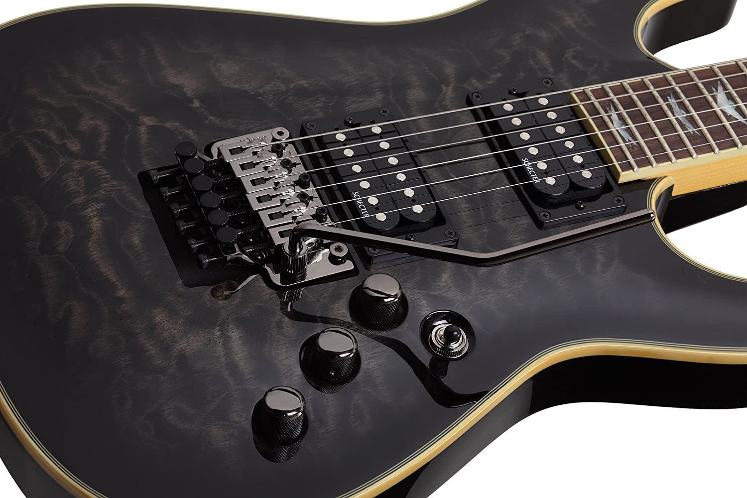 Schecter Guitar Research Omen Extreme 6 Fr Electric See Thru Black Musical Instruments