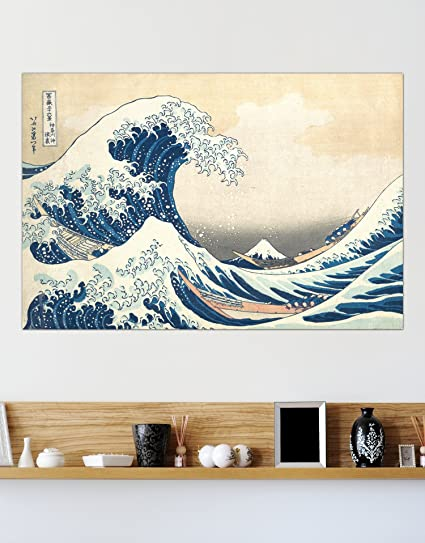 amazon com the great wave off kanagawa by katsushika hokusai poster