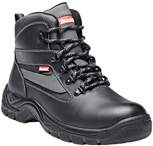 0d9402ade64 Makita Anjo Safety Boot Steel Midsole Toecap Water Repellent Leather Uppers  Mesh Lining Oil Resistant Sole Antistatic Dual Density PU Outsole Work ...