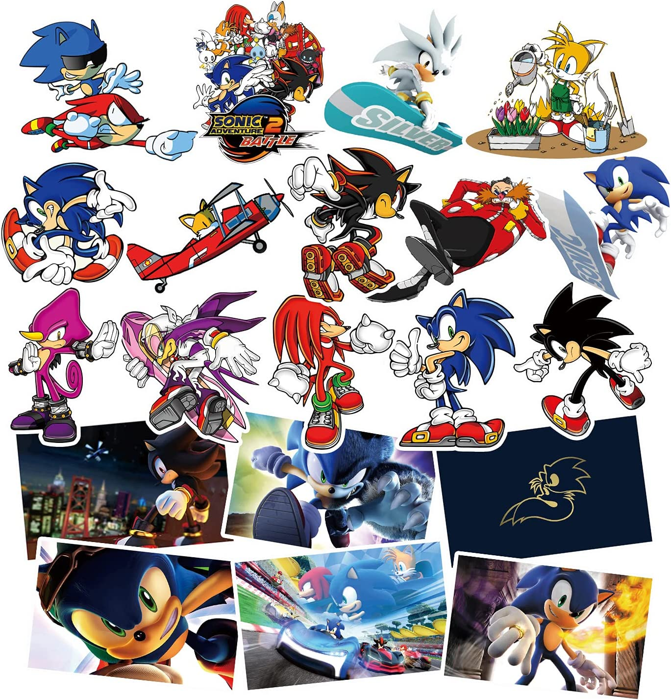 Sonic the hedgehog stickers anime cartoon decals kids phone laptop Free Shipping