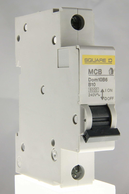 Schneider Electric MCB Dom10B6 B10 Circuit Breaker