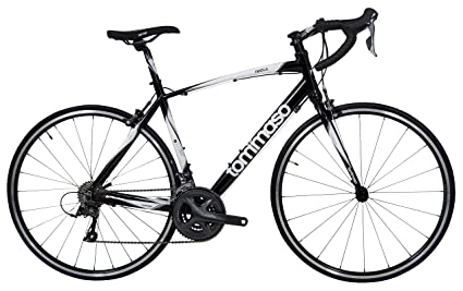 Tommaso Imola Endurance Aluminum Road Bike, Shimano Claris R2000, 24 Speeds - Black - Large best road bikes