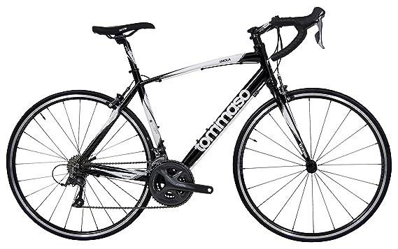 5cebe24053a Amazon.com : Tommaso Imola Endurance Aluminum Road Bike, Shimano Claris  R2000, 24 Speeds, Black, White, Burnt Orange : Sports & Outdoors