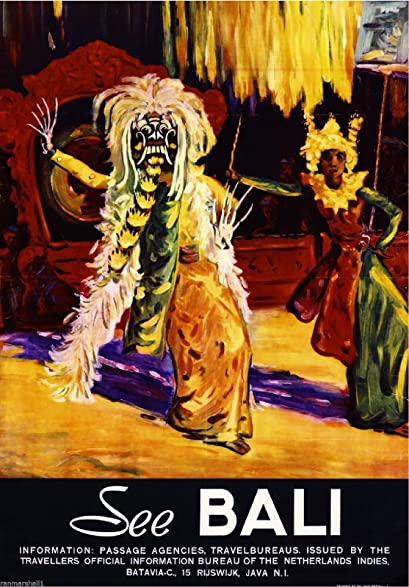 See Bali Indonesia #3 Vintage Travel Advertisement Art Poster