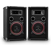 """Malone PA-220-P - Paire de Haut-parleurs, Haut-parleurs 3 Voies, Enceintes passives, Puissance 2 x 500 Watts Max, Subwoofer de 20 cm (8""""), Tweeter, Réponse de fréquence: 50 Hz à 20 kHz, Noir"""