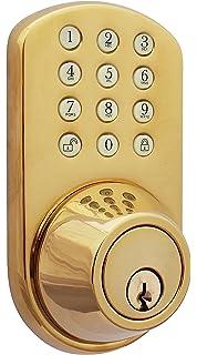 MiLocks TF 02P Digital Deadbolt Door Lock With Electronic Keypad For Exterior  Doors, Polished