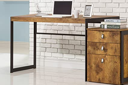 Image Unavailable. Image not available for. Color: Coaster Antique Nutmeg Computer  Desk - Amazon.com: Coaster Antique Nutmeg Computer Desk: Kitchen & Dining