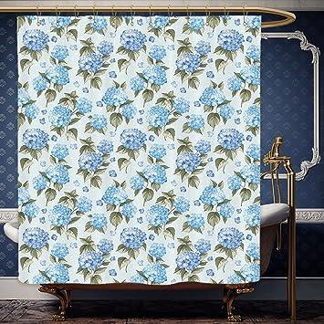 Wanranhome Custom Made Shower Curtain House Decor Hydrangea Flowers Over Light Background Wedding Bridal Artistic