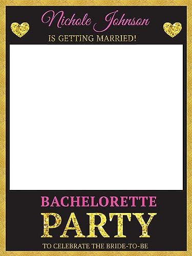 Amazon.com: Custom Gold Trim Bachelorette Party Photo Booth Prop ...
