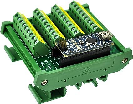 Czh Labs Din Schraubklemmleiste Schienenmontage Breakout Modul Platine Für Arduino Nano Micro Beleuchtung