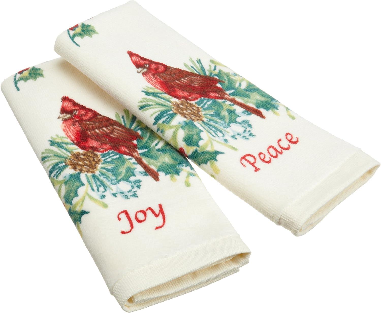 Lenox Fingertip Towel Set, Peace and Joy