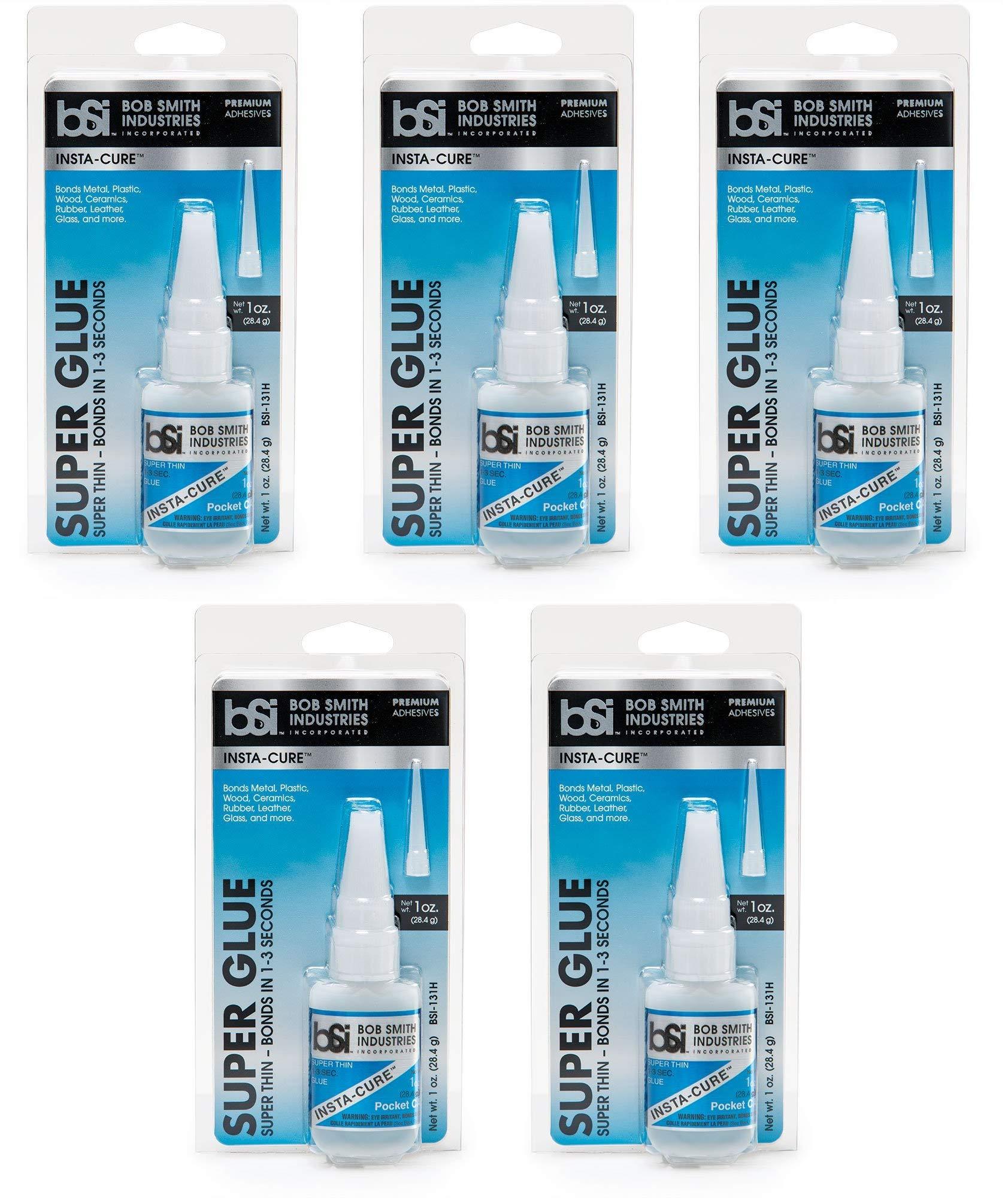 Bob Smith Industries BSI-131H Insta-Cure Thin Super Glue, 1 oz. (Fіvе Расk)