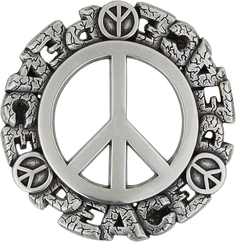 RETTUNGSRING by showroom 019/° Unisex Wechselschlie/ße mit Peace-Motiv