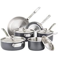 Viking 5-Ply Hard Stainless 10-Piece Cookware Set with Hard Anodized Exterior