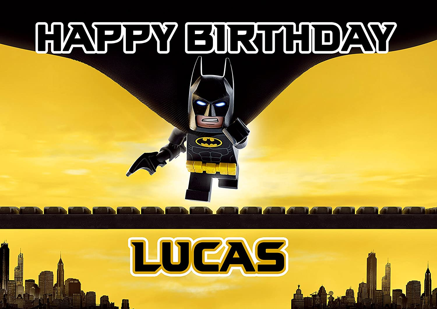 Lego Batman Quarter Sheet Edible Photo Birthday Cake Topper ...