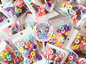 50pc Fruit Loop Charms Cabochon Slime Charms Simulation Food Charms for Slime Assorted Flatback Cabochons for DIY Craft Making and Scrapbooking Slime by Nasir Slime Supplies