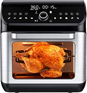 IKICH Air Fryer Oven, 12QT, Silver