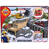 SIMBA 109251037 - Fireman Sam Advent Calendar 2018, with Large Playing Scene, with Christmas Story, 24 surprises, with 3 Figures