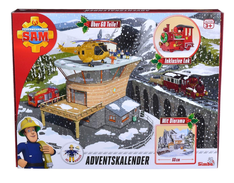 Simba 109251037 Feuerwehrmann Sam 2018 Adventskalender Simba Toys